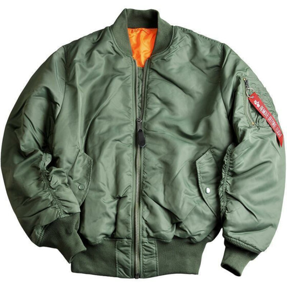 Alpha Industries  US Pilotenjacke MA-1, sage green XS