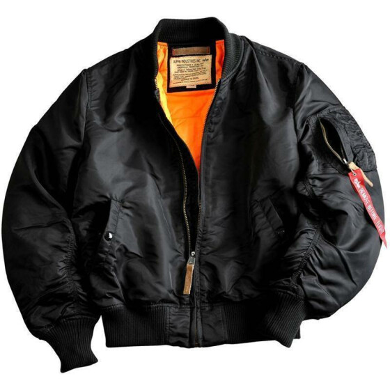Alpha Industries  MA-1 VF 59, black 3XL