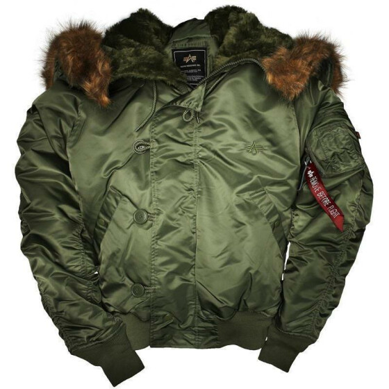 Alpha Industries  US Pilotenjacke N2B, sage green M