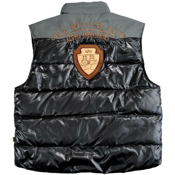 Alpha Industries  Gold Gear Down Vest, black 3XL