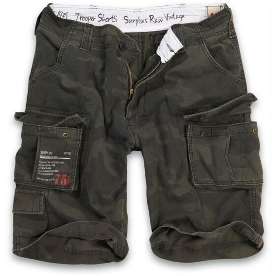 SURPLUS Trooper Short, black camo M / 88 cm