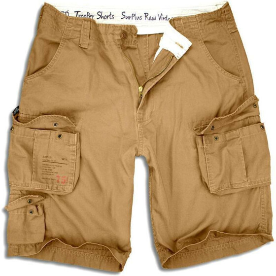 SURPLUS Trooper Short, beige washed 7XL / 128 cm