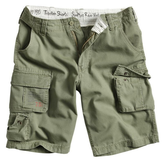 SURPLUS Trooper Short, oliv washed XL / 98 cm