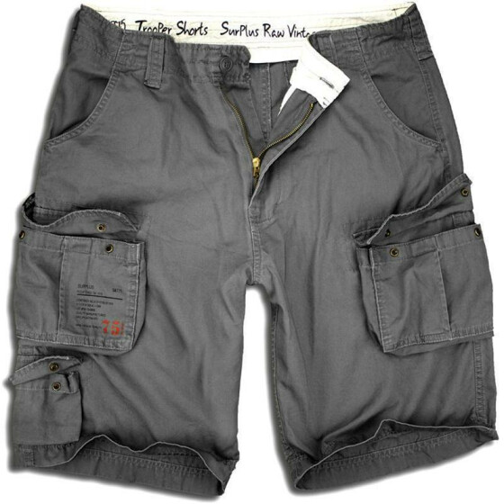 SURPLUS Trooper Short, black washed 5XL / 118 cm