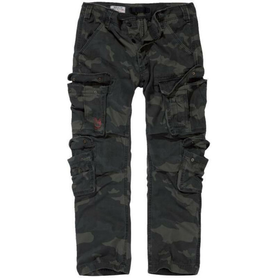 SURPLUS Airborne Slimmy Trouser, stonewashed, black camo S / 83,5 cm
