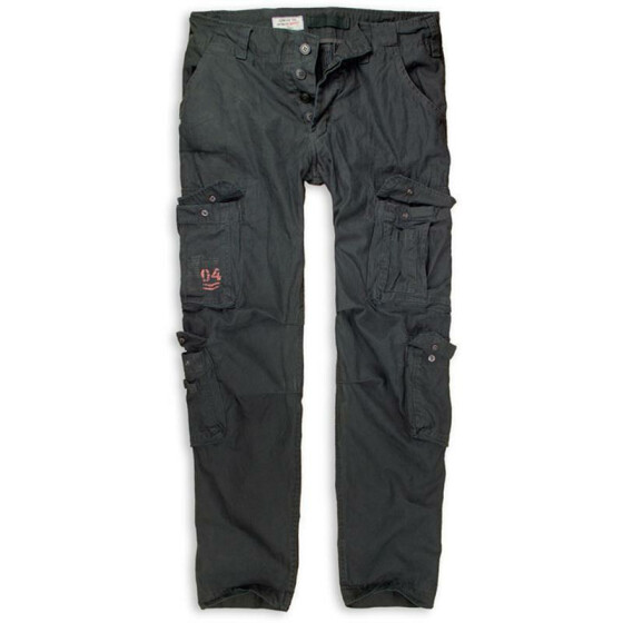 SURPLUS Airborne Slimmy Trouser, stonewashed, black L / 93,5 cm