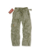 SURPLUS Infantry Cargo Trouser, stonewashed, oliv S / 80 cm