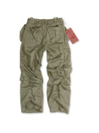 SURPLUS Infantry Cargo Trouser, stonewashed, oliv M / 85 cm