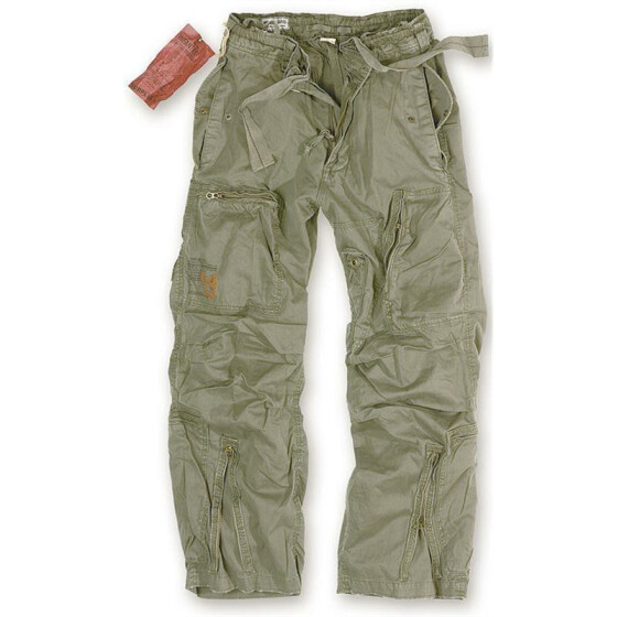SURPLUS Infantry Cargo Trouser, stonewashed, oliv XXL / 100 cm