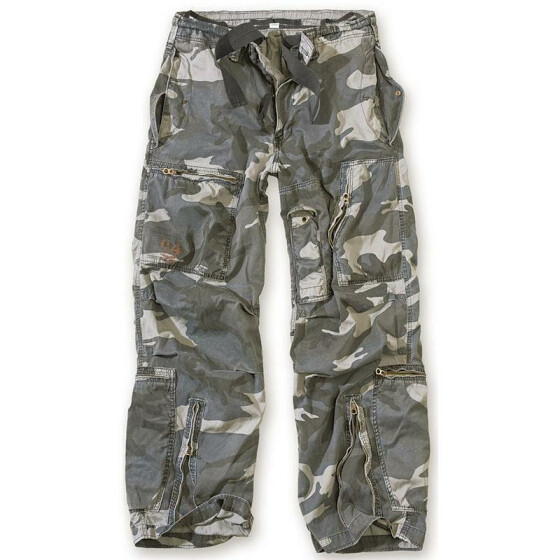 SURPLUS Infantry Cargo Trouser, stonewashed, night camo S / 80 cm