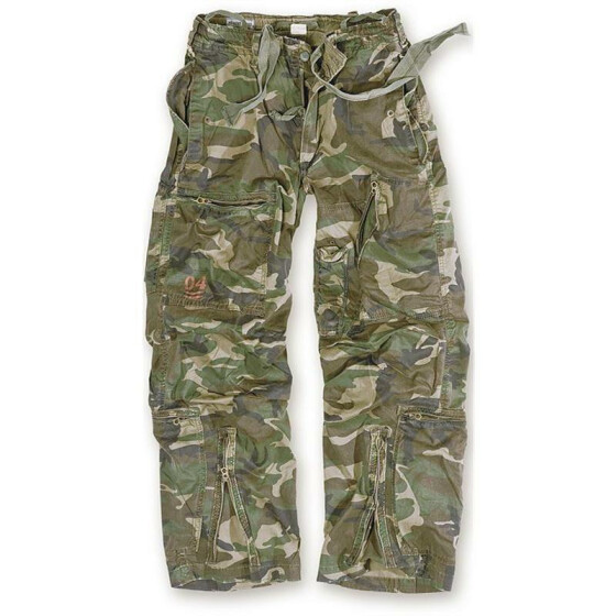 SURPLUS Infantry Cargo Trouser, stonewashed, woodland M / 85 cm