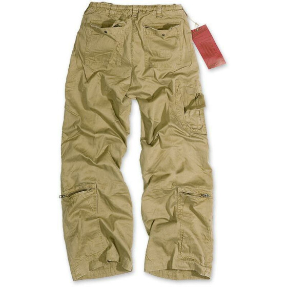 SURPLUS Infantry Cargo Trouser, stonewashed, camel XXL / 100 cm