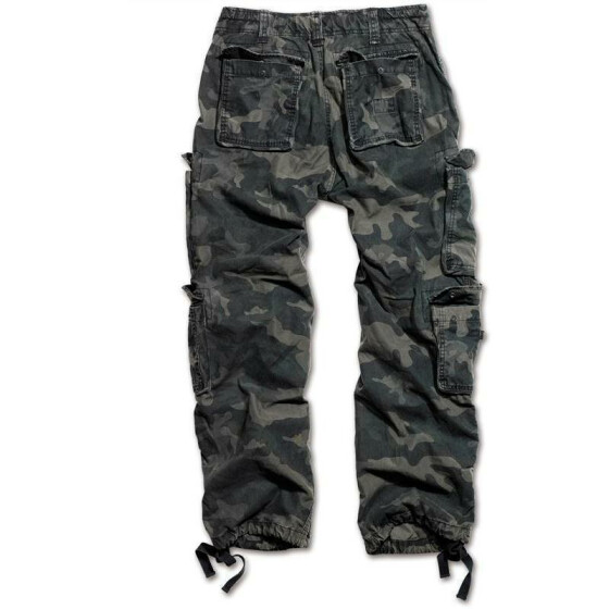 SURPLUS Airborne Vintage Trouser, stonewashed, black camo XL / 100 cm