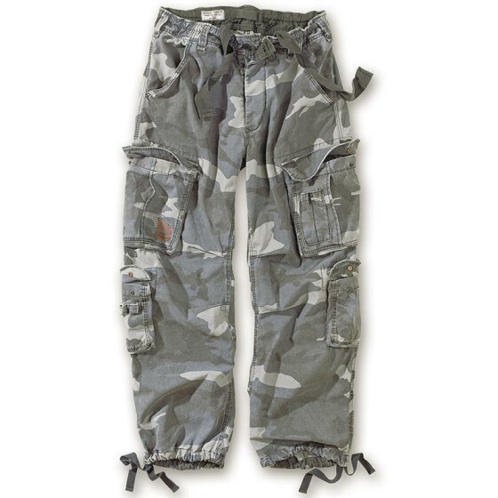 SURPLUS Airborne Vintage Trouser, stonewashed, night camo L / 95 cm