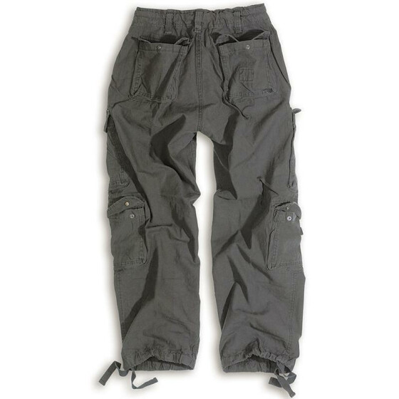SURPLUS Airborne Vintage Trouser, stonewashed, black 5XL / 120 cm