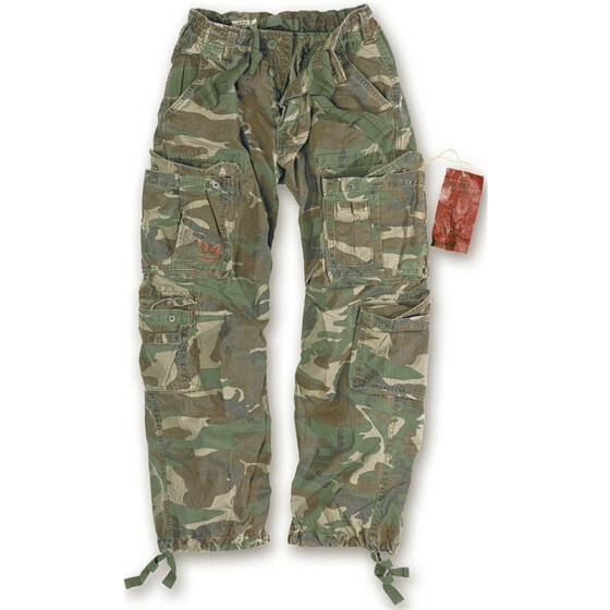 SURPLUS Airborne Vintage Trouser, stonewashed, woodland  4XL / 115 cm