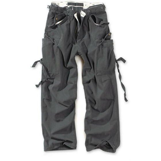 SURPLUS Vintage Fatigues Trousers, black M / 89 cm
