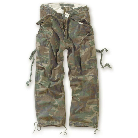 SURPLUS Vintage Fatigues Trousers, woodland L / 94 cm