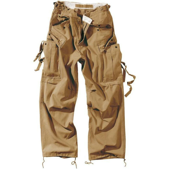 SURPLUS Vintage Fatigues Trousers, beige XXL / 104 cm