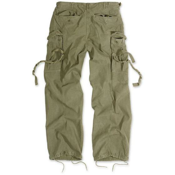SURPLUS Vintage Fatigues Trousers, oliv S / 84 cm