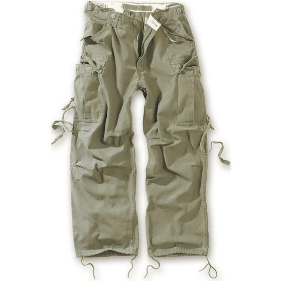 SURPLUS Vintage Fatigues Trousers, oliv XL / 99 cm