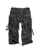 SURPLUS Engineer Vintage 3/4-Pants, blackcamo gewaschen S / 84 cm