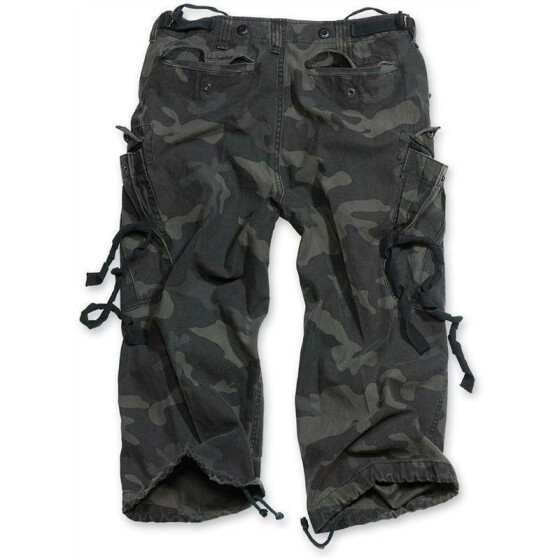 SURPLUS Engineer Vintage 3/4-Pants, blackcamo gewaschen L / 96 cm
