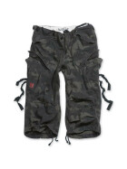 SURPLUS Engineer Vintage 3/4-Pants, blackcamo gewaschen XL / 102 cm