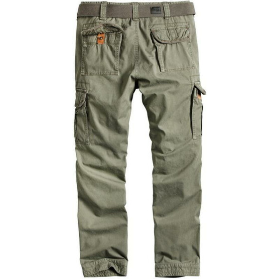 SURPLUS PREMIUM TROUSERS SLIMMY, oliv washed M / 84 cm