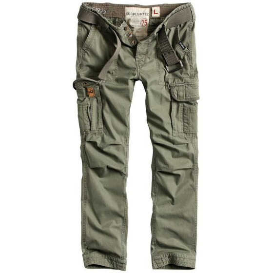 SURPLUS PREMIUM TROUSERS SLIMMY, oliv washed XXL / 102 cm