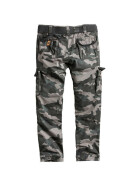 SURPLUS PREMIUM TROUSERS SLIMMY, black camo S / 78 cm