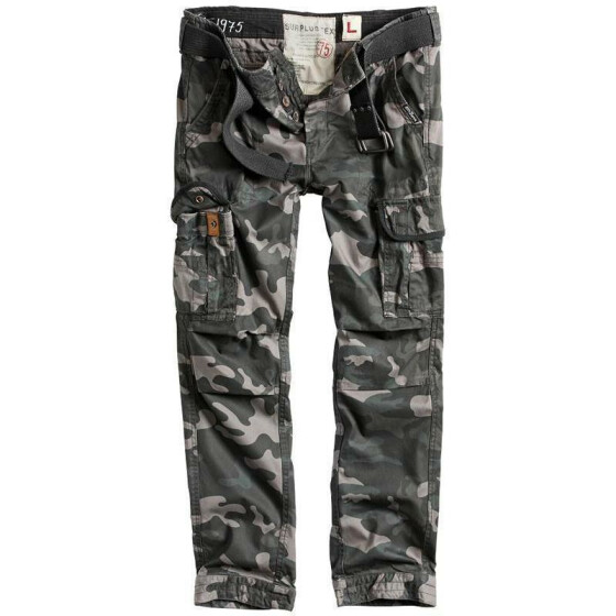 SURPLUS PREMIUM TROUSERS SLIMMY, black camo M / 84 cm