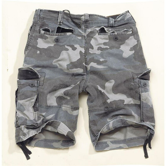 SURPLUS Vintage Bermuda, night camo L / 95 cm