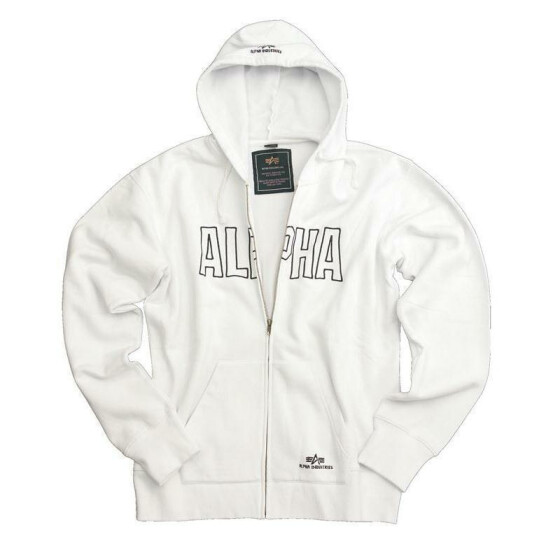 Alpha Industries  Track Hd Jacket, white 3XL