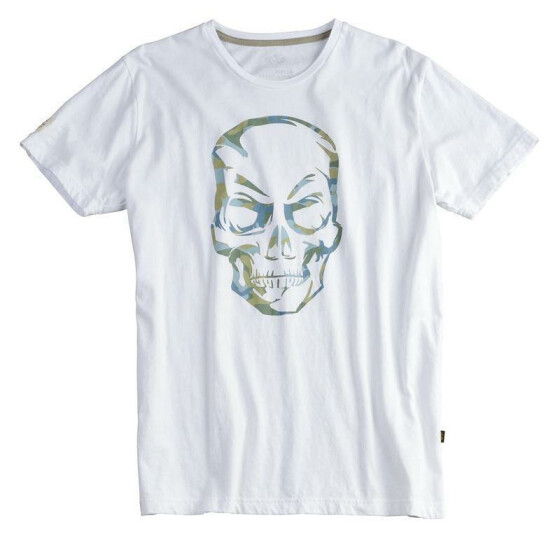 Alpha Industries Camo Skull T, white