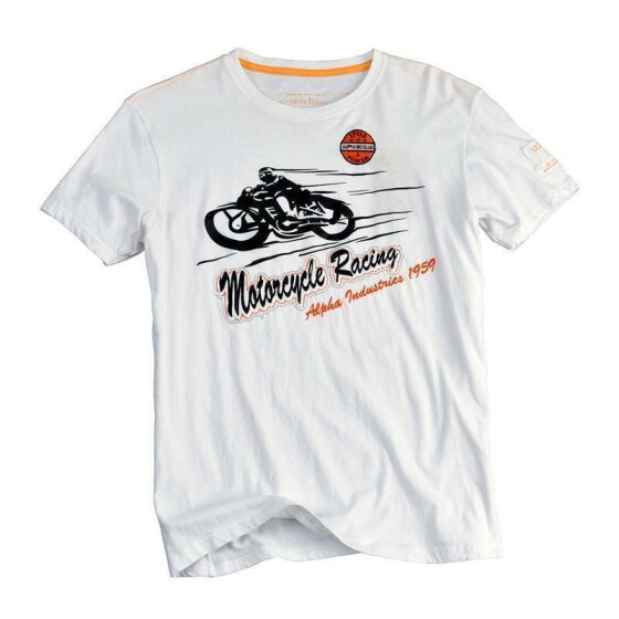 Alpha Industries Motorcycle T, white M