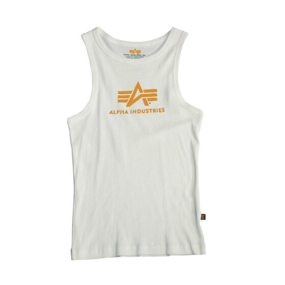 Alpha Industries  LOGO TANK, white-orange XXL