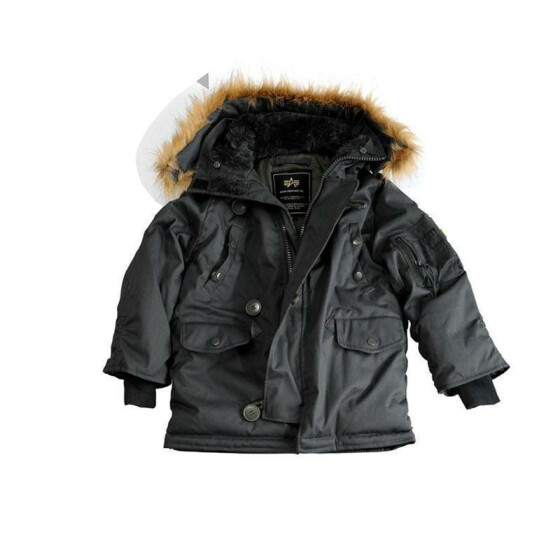 Alpha Industries EXPLORER Kid`s, rep. grey US 9 | EU 134