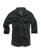BRANDIT SlimFit Shirt, black 3XL