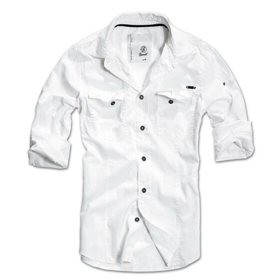 BRANDIT SlimFit Shirt, white 3XL
