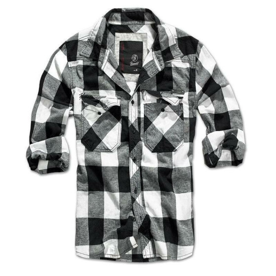 BRANDIT Check Shirt, black-white M