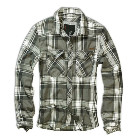 BRANDIT Check Shirt, olive