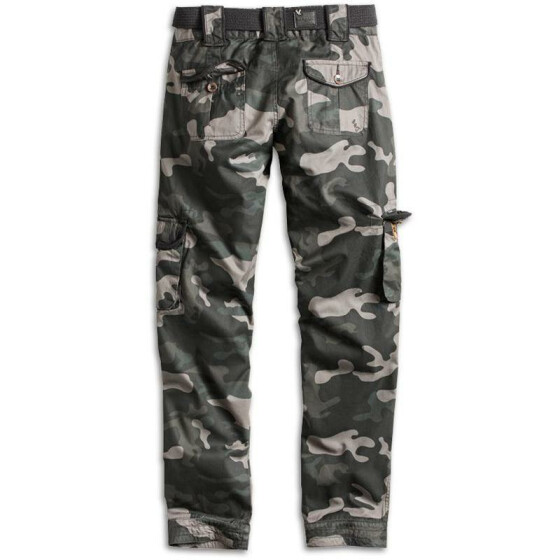 SURPLUS LADIES PREMIUM TROUSERS SLIMMY, black camo washed XL / 40