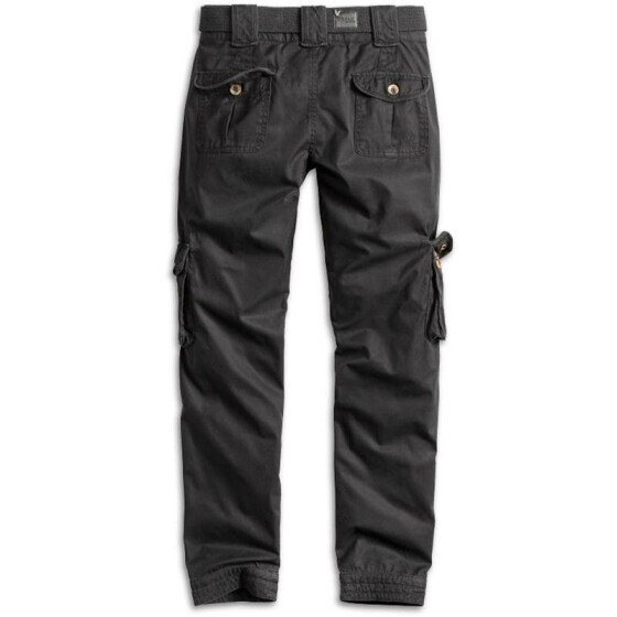 SURPLUS LADIES PREMIUM TROUSERS SLIMMY, black washed M / 36