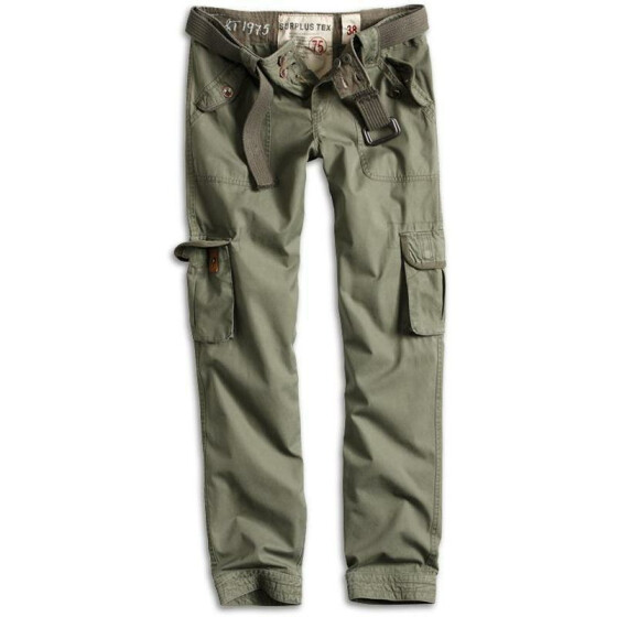 SURPLUS LADIES PREMIUM TROUSERS SLIMMY, olive L / 38