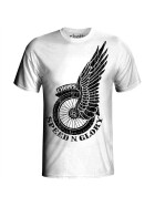 T-Shirt Speed & Glory, white M