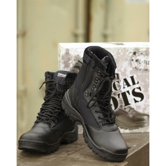 MILTEC Tactical Boot,mit YKK-ZIPPER, schwarz US 15 | EU 48