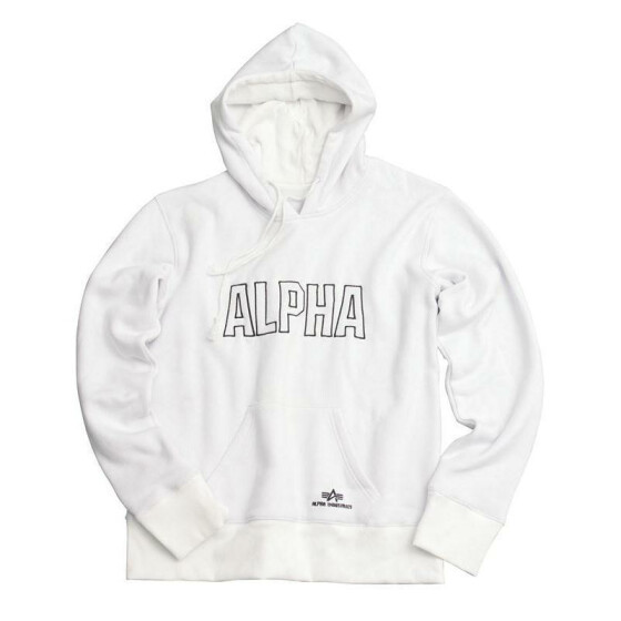 Alpha Industries  Track Hoody, white XXL