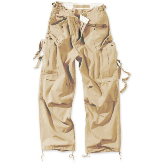 SURPLUS Vintage Fatigues Trousers, light beige M / 89 cm