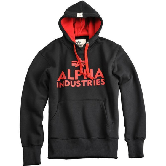 Alpha Industries Foam Print Hoody, black